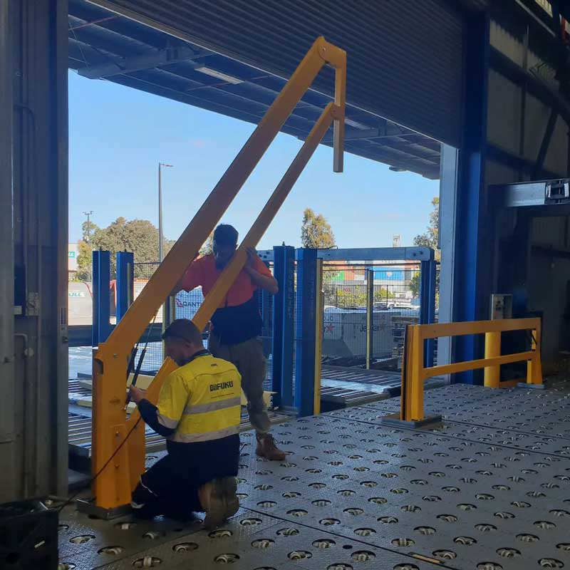 Loading dock gate installation